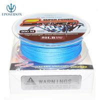 No.1 Quality&Service 4 Strand Blue Color 300M Japan Multifilament Super Strong 100% PE Braid Fishing Line 45LB