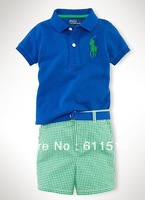 Free shipping 6 piece /lot  Boy Summer Clothes /Tshirt +Pants