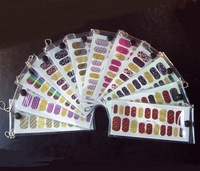 2013 new 14 colors optional Nails Foils Nail stickers Pro Case Easy Application nail art topwin