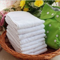 Free Shipping 10pcs/lot Washable & Reusable 3 layer Microfiber Baby Cloth Diapers Nappies Napkin Inserts