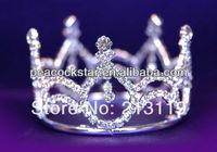 Bridal Wedding Party Baby / Flower Girl Rhinestone Full Circle Round Mini Crown Tiara CT1040