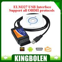 Wholesales OBD/OBDII scanner ELM 327 USB car diagnostic interface scan tool ELM327 USB interface