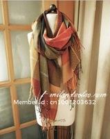 Free shipping!New & Fashion Long ,Women&Men ,Winter Cashmere ,large size plaid scarf