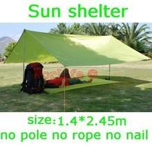 Outdoor sun shelter sun shade waterproof camping cushion survival shelter (1.4*2.45) 1pc(China (Mainland))