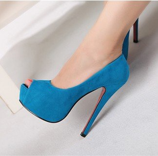 Free shipping Fahion Suede Platform open toe Pumps Sexy Stiletto High Heels shoes Red rose blue black wedding Shoes dropship 200