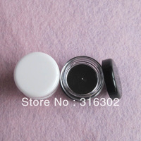 Free shipping -  100/lot white, black cream jar, cosmetic container, plastic bottle,display bottle,sample jar,cosmetic packaging