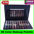 Free Shiping Cheap Beauty Product Series-- Leading-the-trend W88 Warm Color Makeup Powder Eye Shadow Palette with Mirror & Brush