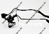 Free shipping  Half Metal frame Ultra-Light 2.5X Binocular Dental Loupes Surgical Loupes with  High Brightness Headlight
