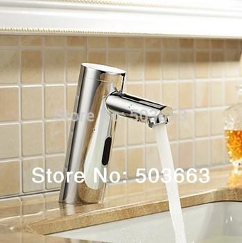 New Hands Free Automatic Sensor Bathroom Basin Faucet Brass Sink Contemporary CM0318 Tap Mixer Faucet