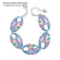 Neoglory Jewelry Stoving Varnish Colorful Enamel Bangles & Bracelets for Women Vintage Fashion Bohemia Gifts 2014 New Hot