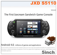 "Free Shipping JXD S5110 5"" Android4.0 Icecream Sandwich OTG HDMI Capacity Touch Screen Game Console TV Output 512MB/4G"