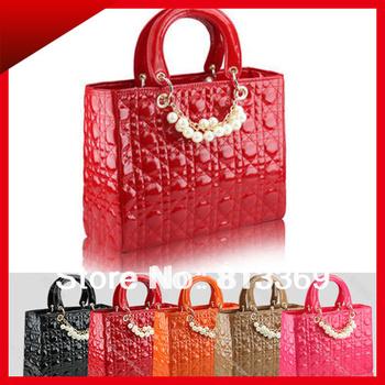 Fashion Europe Style Women Totes Faux Leather Bags Female Messenger Stylish Shoulder Diamond Lattice Lady Handbags Satchel BB303