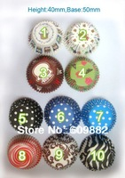 Free shipping 100pcs per lot  paper Cake Cup liners baking cupcake cases! Height:40mm,Base:50mm