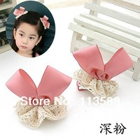 50pcs/lot Free shipping HA0097 bowknot ear hair hair clips, Girl' hairpin, baby's Barrettes,kid's headwear