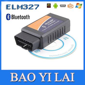 ELM327 Bluetooth OBDII OBD2 OBD-II OBD 2 Diagnostic Scanner Can-Bus ELM 327 Scantool Check Engine Light Car Code Reader  WE0001