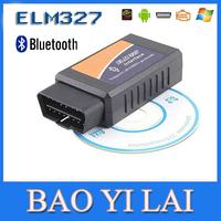 ELM327 Bluetooth OBDII OBD2 OBD-II OBD 2 Diagnostic Scanner Can-Bus ELM 327 Scantool Check Engine Light Car Code Reader  Tester