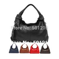 Free shipping, The large capacity, 100% Genuine Leather Women's Handbag Shoulder+tote+Messenger bag, +Tassel+Long shoulder strap
