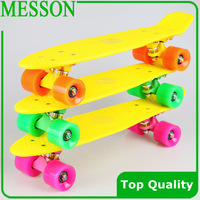"Free Shipping 22""  Skateboard (10pcs/Lot ) min colour complete plastic skateboard"