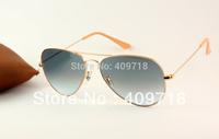 Hot Best Quality Brand Sunglass Designer Sunglass Men's/Women's Fashion 3025-001/3F Metal Gold Sunglass Grey Gradient Lens 58mm