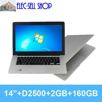 New slim laptop Dual core A3  Intel D2500 CPU1.86GHz  laptops computer 2GB 160GB ultrabook laptop