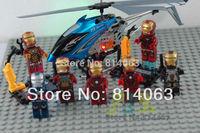 Super hero Toy 8PCS/lot Iron Man children favorite 3D Action Robots Building block Star wars 100%high quality