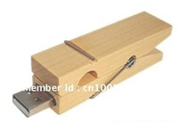 free shipping!!! well quality wooden Clip 8G u disk driver with wooden  Clip