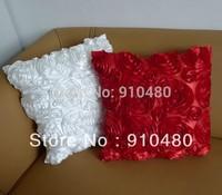Free shipping!! 3D rose pattern decorative pillows modern cushion cover fancy cushion pillow decorative 2 pcs/ lot