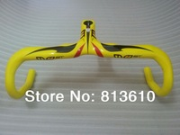 Specials!Full Carbon Fiber Road Bicycle Integrated Handlebar With Stem Carbon Handlebar Road Yellow