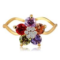 2013 Hot Sale 18K Gold plated Flower Jewelry for Party  the Ring A0117