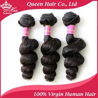 "Queen Hair Products 3pcs/lot Brazilian Loose Wave 100% Virgin TOP Brazilian Hair Weft Human Hair Extension Weaving Hair 12""-28"""