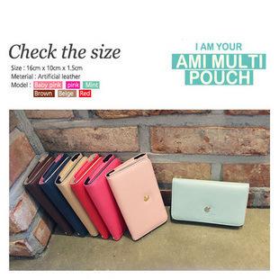AMI MULTI POUCH squirrel birds pure color imitation leather phone bag,30pcs/lot