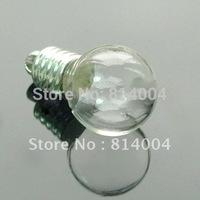 SHIP FREE ! 200 PCS VIAL PENDANT BOTTLE little glass round ball bottle 6MM