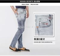 29-40#0122,New 2014 Italian Famous Brand Men's Ripped Jeans,Fashion Designer Straight Large Size Denim Jeans Pants Perfume Men