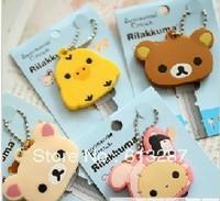 Free Shipping Kawaii Animal Silicon Key Caps Covers Keys Keychain Case Shell Novelty Item,Christmas Gift Wholesale