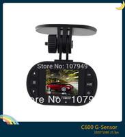 New Car black box C600 HD 1080P Video carcam corder + 4X Digital Zoom + G-sensor car dvr Free shipping