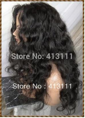 New Full Lace Wig Fashion Sex Malaysia Curl 100% Indian remy Human