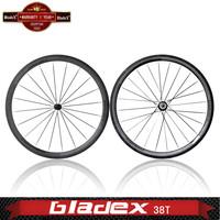 BladeX PRO ROAD CARBON WHEELSET 438T - Ceramic Bearings; Basalt Braking Surface; 38mm Tubular Carbon Wheels; Bicycle Wheelset