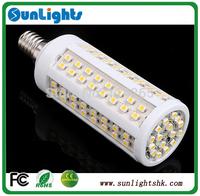 E27 E14 B22 12w 9w 7w  3528 SMD 216/112/108 leds Cold/warm White brightful led Corn Light lamp 220v/110v