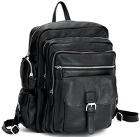 Men Laptop Backpack for travel school boys girls Genuine Leather rucksack book bag 3063