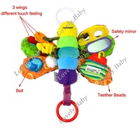 Lovely Musical Baby Musical Inchworm Plush toy toddler Infant kids toys Fly Honey Bee Toys / Wrist Rattles B16 6023