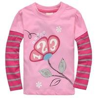 Excellent Quality Girl's Autumn Clothing Long-sleeved Animal Design Tees, 6 Sizes/lot - JBLT194/JBLT328/JBLT331/JBLT332/JBLT339
