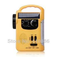 Radio dynamo radio flashlight emergency radio multifunctional flashlight dynamo power  solar chage