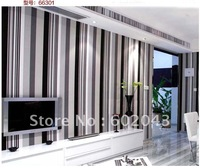 free shipping hot sale elegant stripe vinyl waterproof wallpaper w/simple modern design