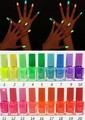 Wholesale - 12pcs 20colors 7ml Fluorescent Neon Nail Art Polish Glow in Dark Lacquer Varnish Luminous nail polis