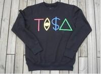 free shipping Trend tisa sweatshirt hiphop style men's clothing 100% cotton drop shipping