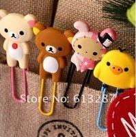 Free Shipping Kawaii Rilakkuma Series Bookmark Clip/Memo Clip/Paper Clip/Bookmark,Novelty Gift Retail