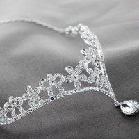 Free Shipping 3pcs/lot Fashion Rhinestones Wedding Flower Crowns and Tiaras Bridal Hair Accessories Princess Forehead Jewelry