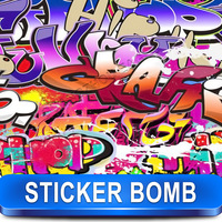 Glossy Finish Sticker Bomb Vinyl Sheet Car Wrap Film X Series 13-24 Deisgns Size: 1.5 x 30 Meter / X Series