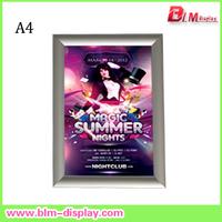 Aluminum A4  25MM edge Snap Frame Clip frame Photo frame Poster Frame
