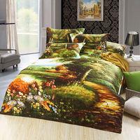 unique flower oil painting Duvet/quilt cover king queen 3d bedding set cotton bedclothes bed sheet bedlinen sets bedcover luxury
